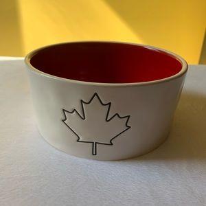 Rae Dunn Canadian Flag Pet Bowl